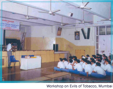 Workshop on Evils of Tobacco, Mumbai