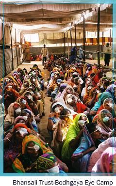 Bhansali trust - Bodhgaya Eye Camp