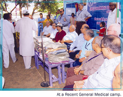 At a recent General Medical camp.