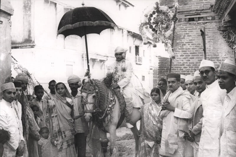 A jain marriage procession in palanpur, 1936
