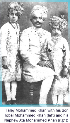 Taley Mohammed Khan with his Sons